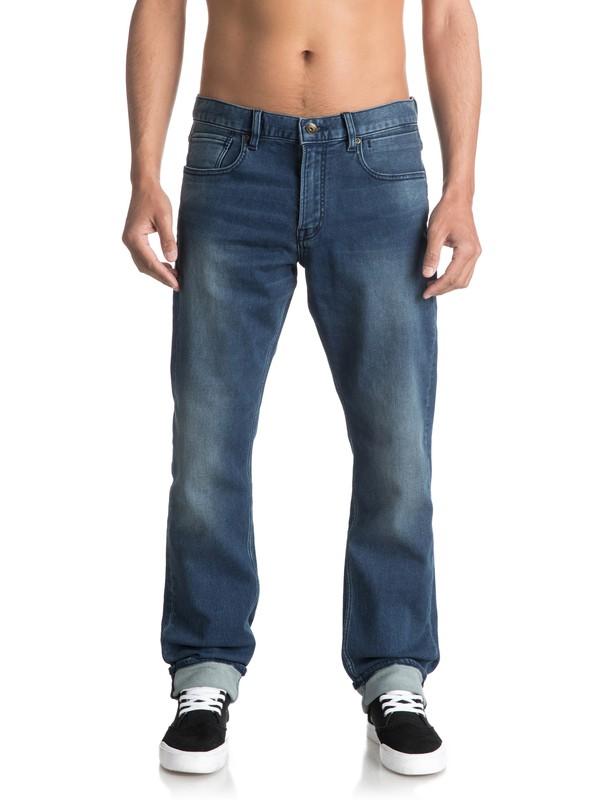 0 Revolver Iron Blue - Straight Fit Jeans für Männer Blau EQYDP03336 Quiksilver
