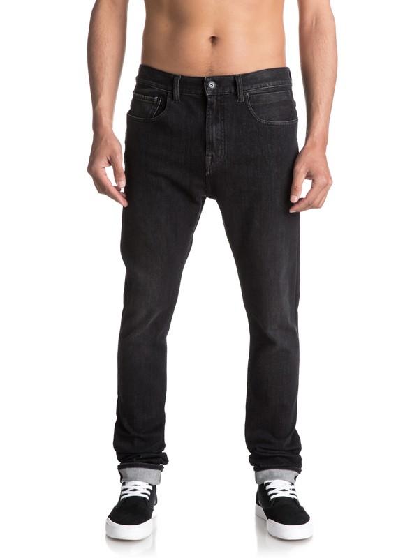 0 Low Bridge Slate - Jean skinny Noir EQYDP03340 Quiksilver