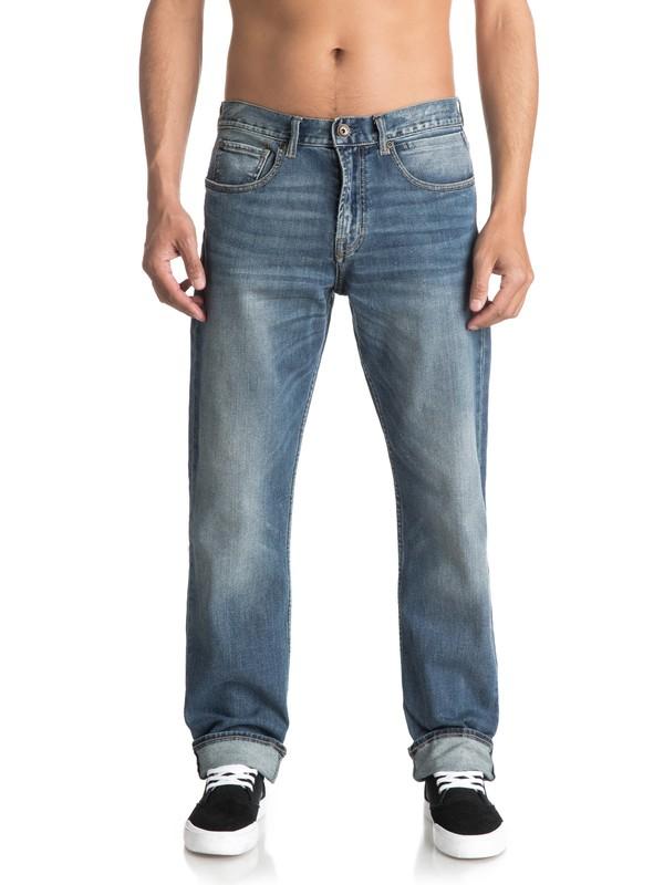 0 Sequel Burnt Blue - Jean regular pour Homme Bleu EQYDP03341 Quiksilver