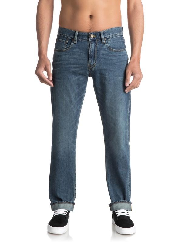 0 Sequel Medium Blue Regular Fit Jeans Blue EQYDP03344 Quiksilver