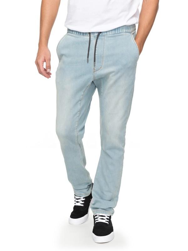 0 Fonic Bleached - Pantalon de jogging en denim pour Homme Bleu EQYDP03361 Quiksilver