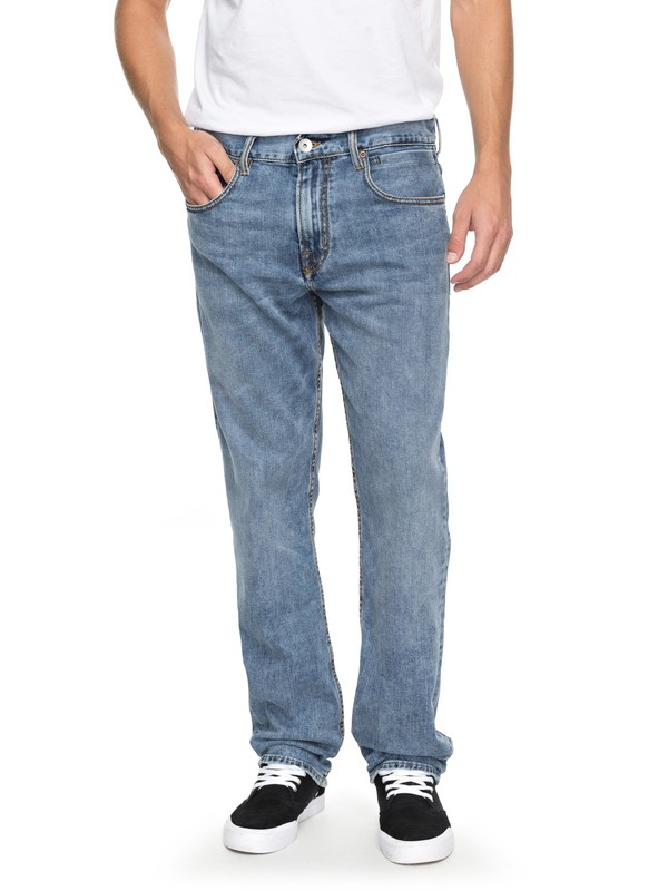 0 Sequel 90 Summer - Regular Fit Jeans for Men Blue EQYDP03362 Quiksilver