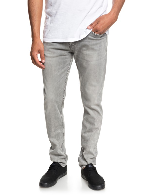0 Distorsion Stone Slim Fit Jeans Grey EQYDP03368 Quiksilver