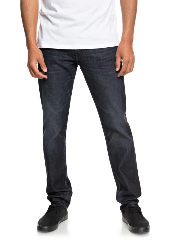 0 Revolver Blue Black Straight Fit Jeans Blue EQYDP03369 Quiksilver