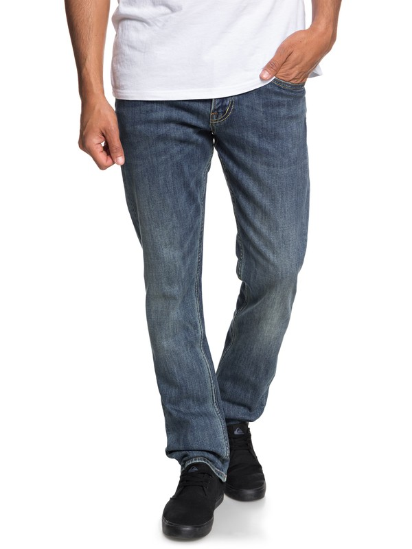 0 Revolver Straight Fit Jeans Azul EQYDP03372 Quiksilver