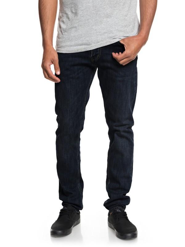 0 Hombres Pantalones de Mezclilla Ajuste Esbelto Enjuage Distorsion Azul EQYDP03377 Quiksilver