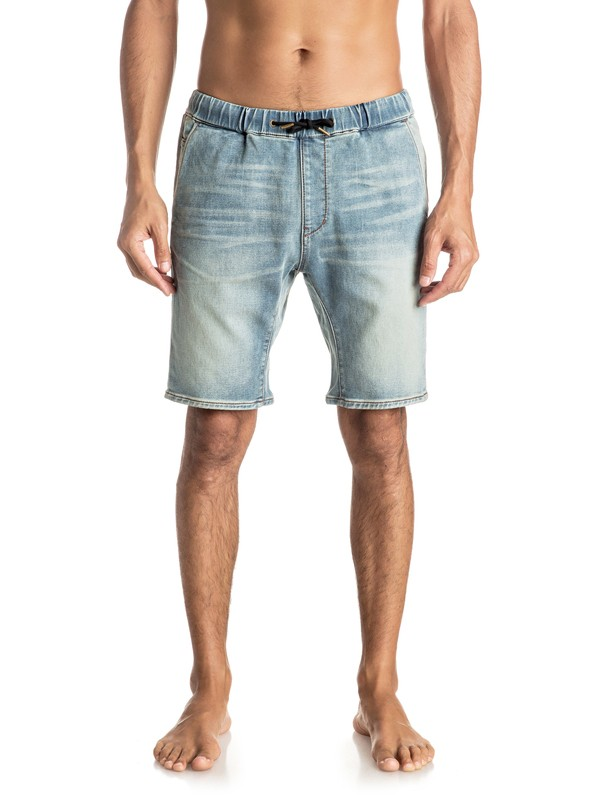 0 Fonic Blur - Shorts en molleton denim slim  EQYDS03066 Quiksilver