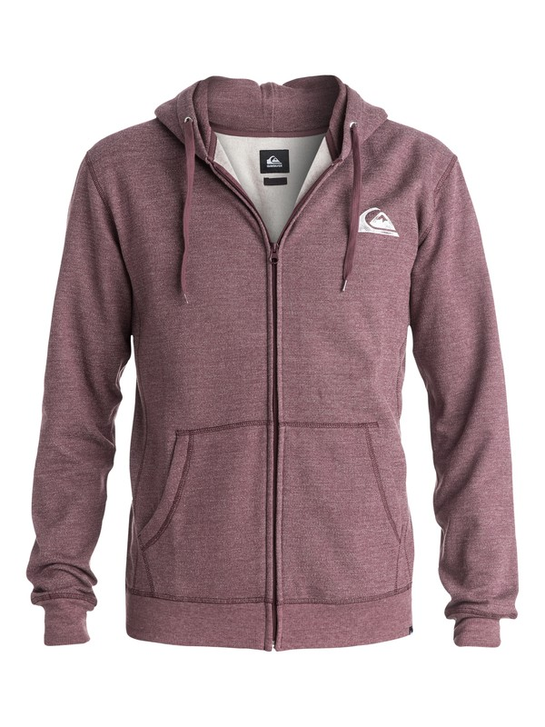 0 Everyday Heather Zip - Sweat doublé à capuche zipé  EQYFT03179 Quiksilver
