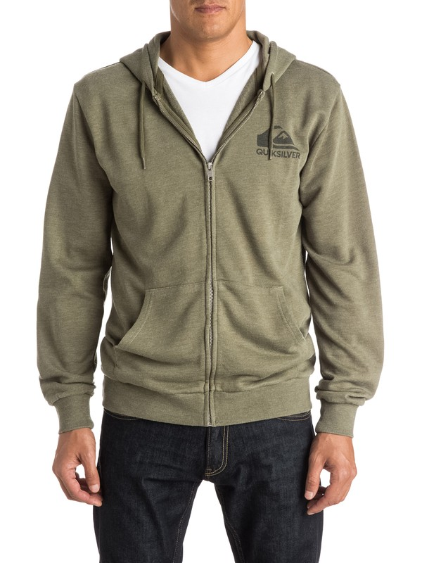 0 Jungle Forest Zip-Up Hoodie  EQYFT03309 Quiksilver
