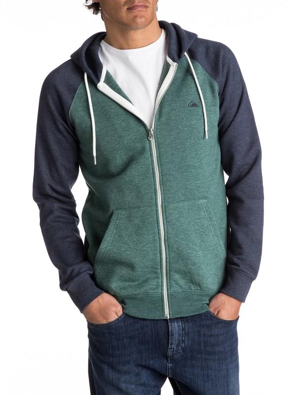0 Everyday Zip-Up Hoodie Green EQYFT03429 Quiksilver