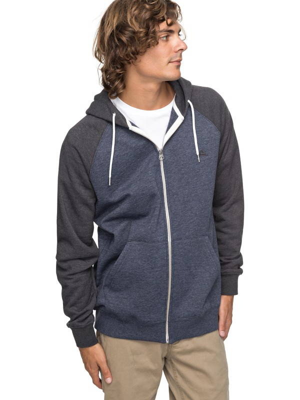 0 Everyday - Zip-Up Hoodie for Men Black EQYFT03429 Quiksilver