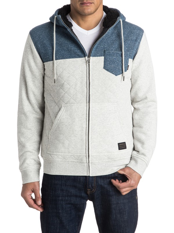 0 Best Trip Quilted Zip-Up Hoodie  EQYFT03438 Quiksilver