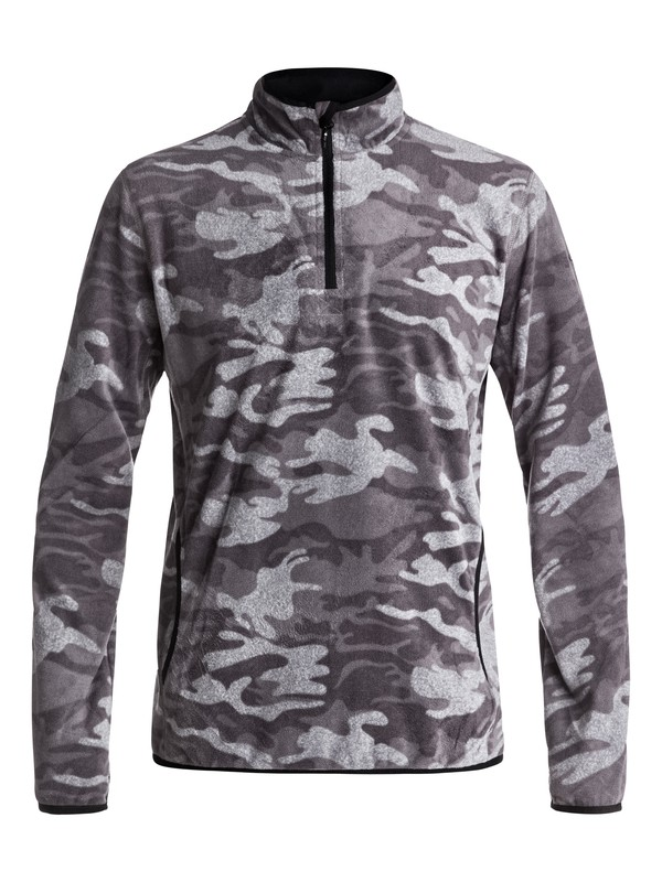 0 Aker Half-Zip Technical Fleece Black EQYFT03629 Quiksilver
