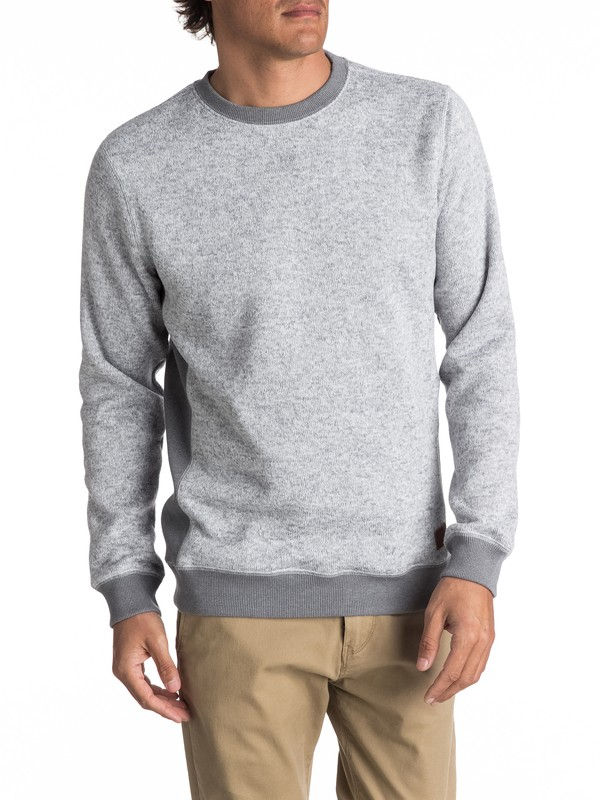 0 Keller - Polar Fleece Sweatshirt Grey EQYFT03659 Quiksilver