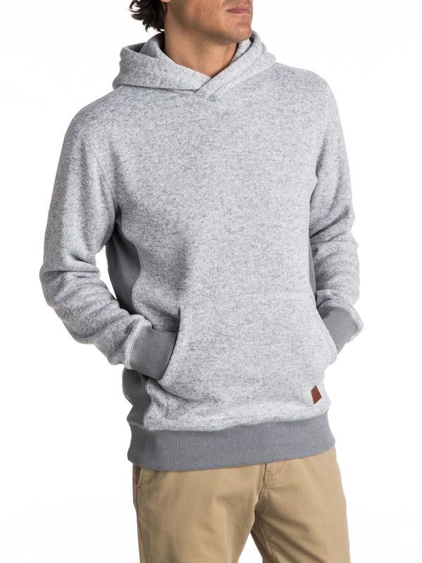 0 Keller Polar Fleece Hoodie Grey EQYFT03660 Quiksilver