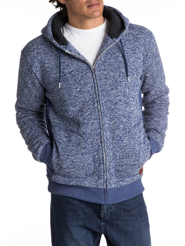 0 Keller Sherpa - Zip-Up Polar Fleece Hoodie  EQYFT03662 Quiksilver