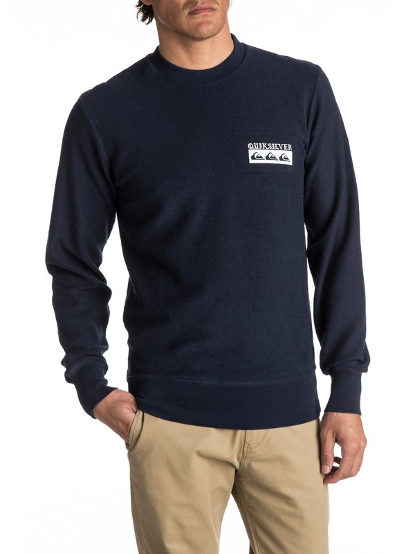 0 Spray Daze Sweatshirt Blue EQYFT03680 Quiksilver