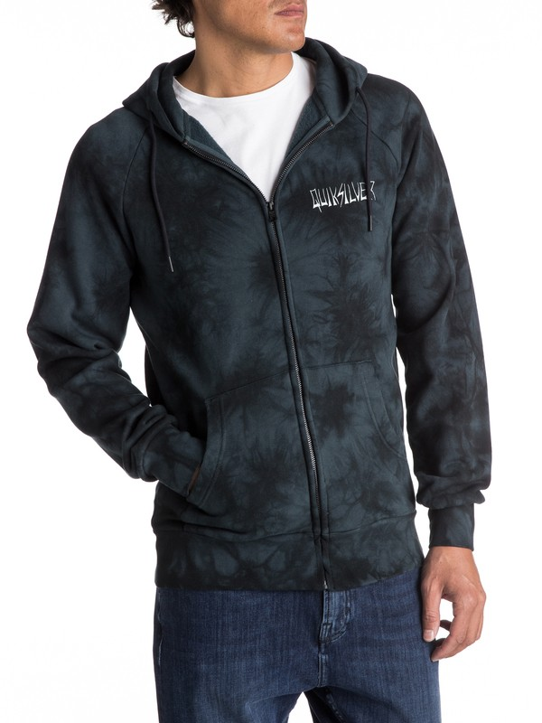 0 Green Out Zip-Up Hoodie  EQYFT03681 Quiksilver