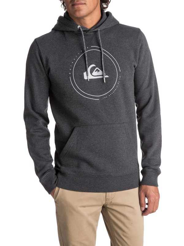 0 Men's Big Logo Hoodie Black EQYFT03726 Quiksilver