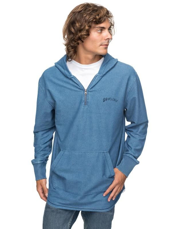 0 Desska - Sweatshirt à capuche 1/2 zip pour Homme Bleu EQYFT03744 Quiksilver