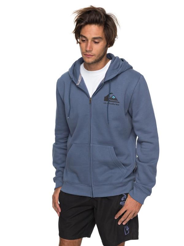 0 Authorized Dealers 2 Zip-Up Hoodie Blue EQYFT03749 Quiksilver