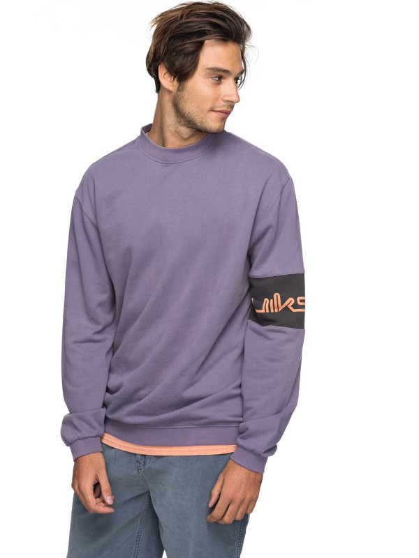 0 Wave Slide - Sweater Purple EQYFT03751 Quiksilver
