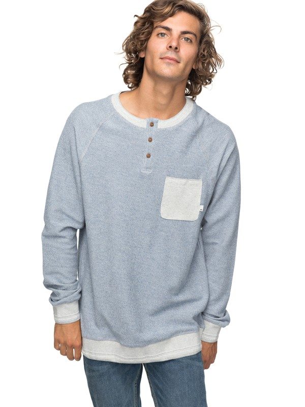 0 Grazie - Sweatshirt for Men Blue EQYFT03761 Quiksilver