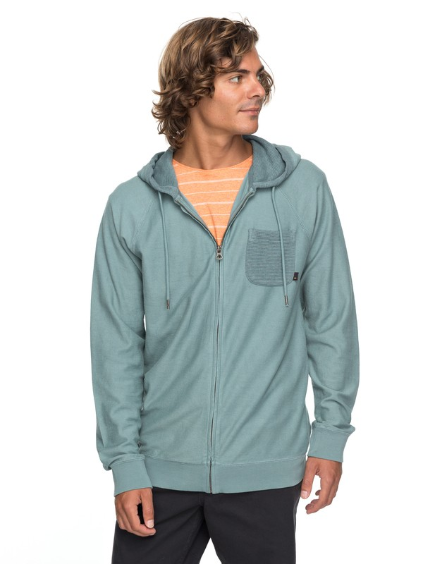 0 Baao Zip - Zip-Up Hoodie for Men Blue EQYFT03766 Quiksilver