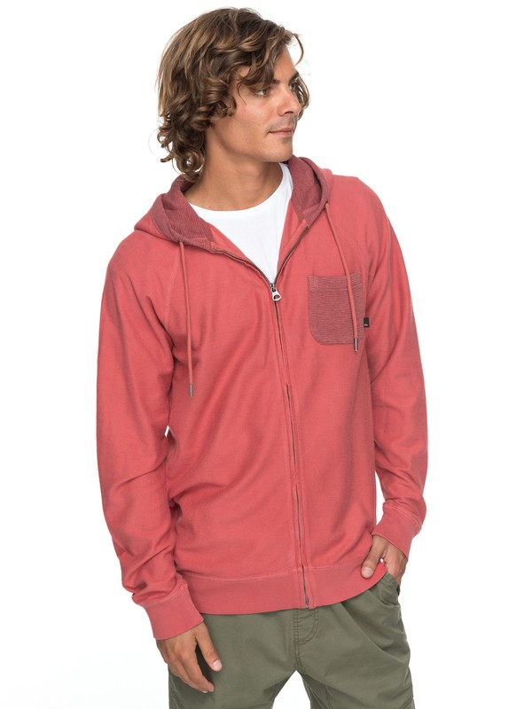 0 Baao Zip - Zip-Up Hoodie for Men Pink EQYFT03766 Quiksilver