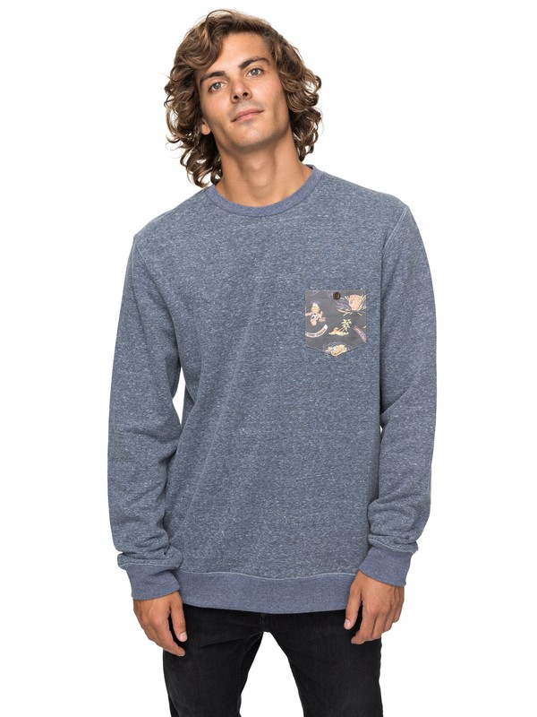 0 Buckmann - Sweatshirt for Men Blue EQYFT03774 Quiksilver