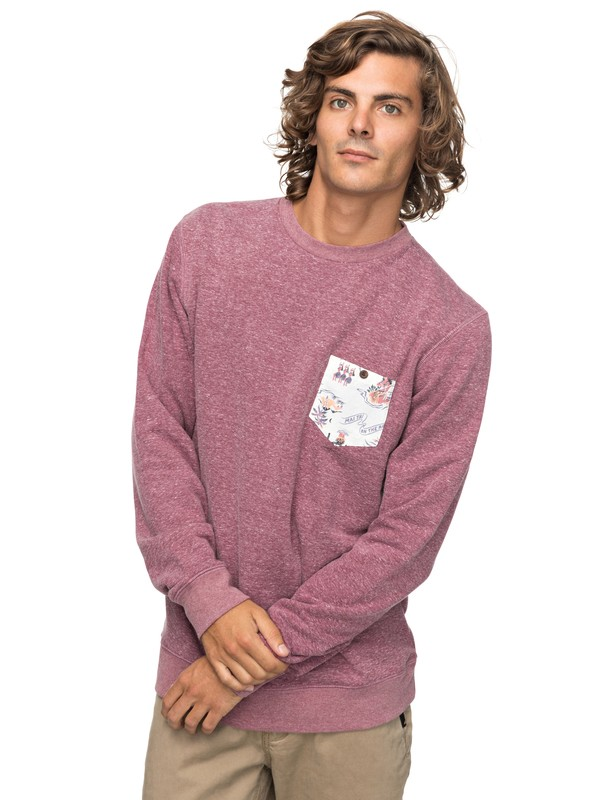 0 Buckmann - Sweatshirt Rot EQYFT03774 Quiksilver