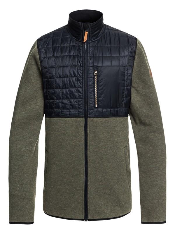 0 Into The Wild - Technical Zip-Up Fleece for Men Brown EQYFT03783 Quiksilver
