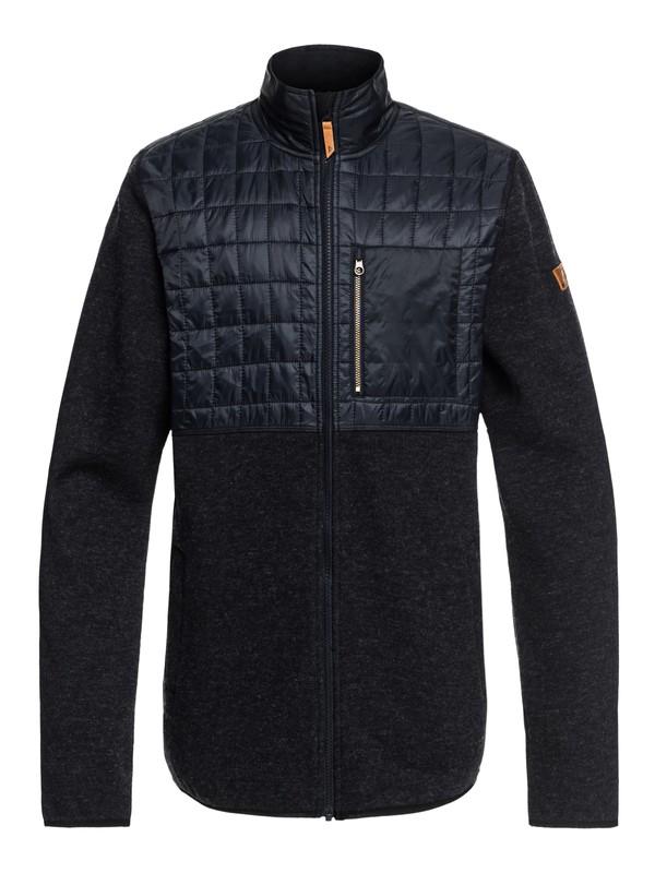 0 Into The Wild Technical Zip-Up Fleece Black EQYFT03783 Quiksilver