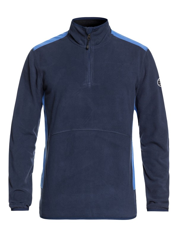 0 Aker Technical Half Zip Fleece Blue EQYFT03784 Quiksilver