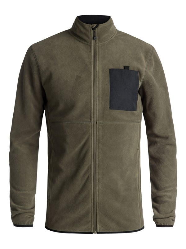 0 Butter - Technical Zip-Up Fleece Brown EQYFT03785 Quiksilver