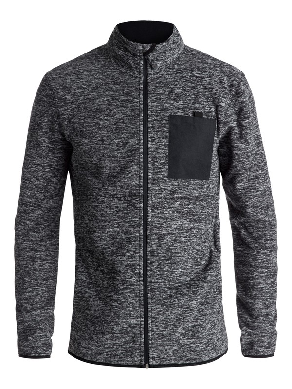 0 Butter Technical Zip-Up Fleece Black EQYFT03785 Quiksilver
