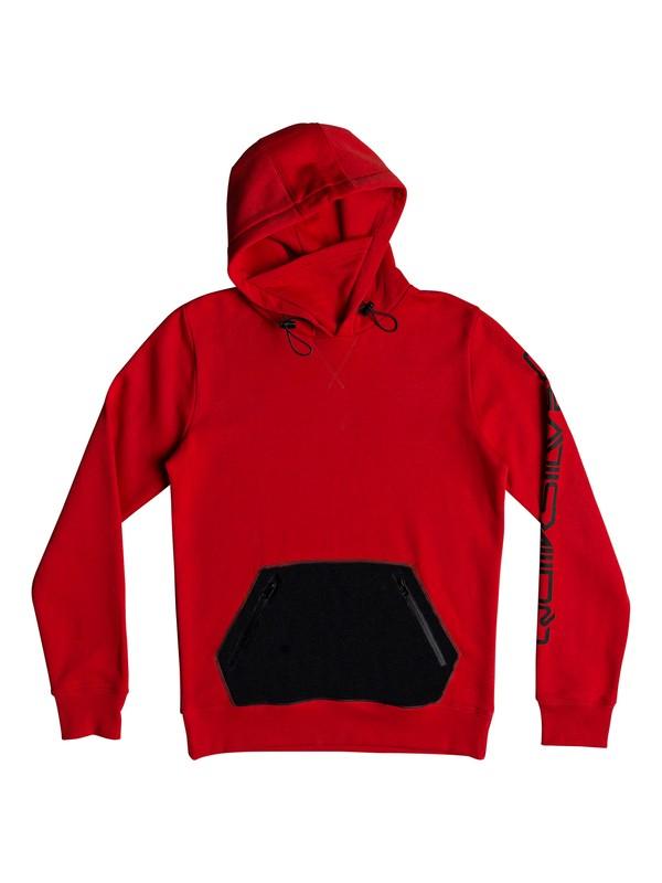 0 Big Logo Technical Hoodie Red EQYFT03787 Quiksilver