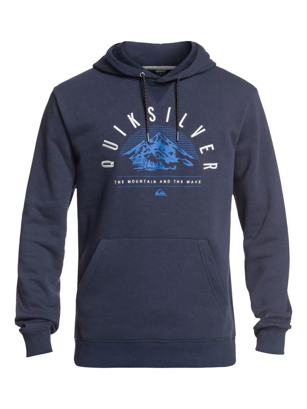 0 Big Logo Technical Hoodie with DryFlight® Blue EQYFT03789 Quiksilver