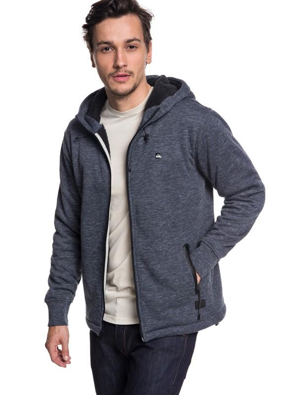 0 Kurow Sherpa - Gelaagde hoodie met rits voor Heren Blue EQYFT03833 Quiksilver