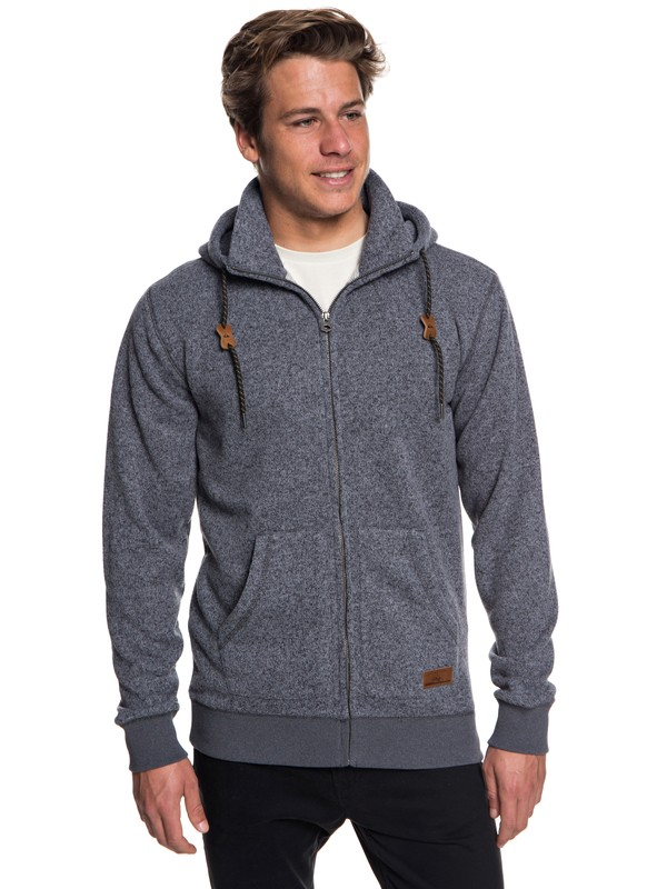 0 Keller Zip-Up Hooded Fleece Black EQYFT03835 Quiksilver