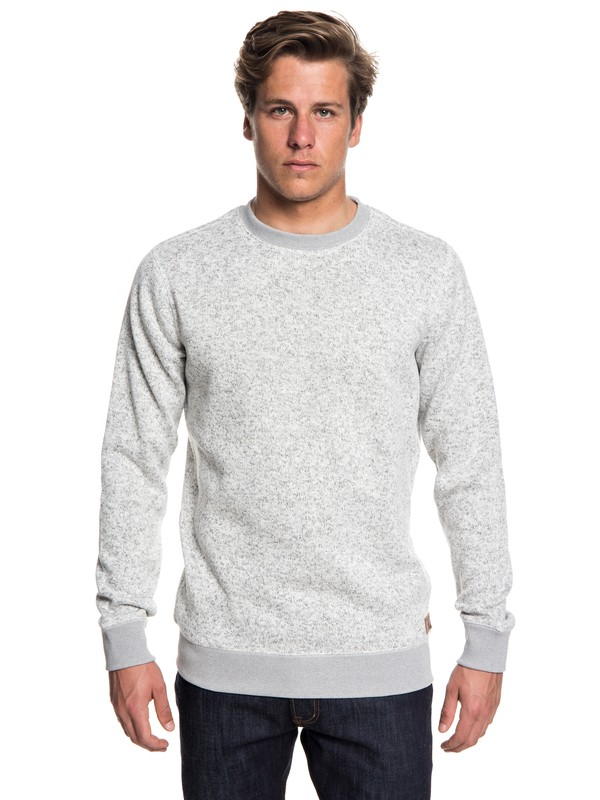 0 Keller Polar Fleece Sweatshirt Grey EQYFT03837 Quiksilver