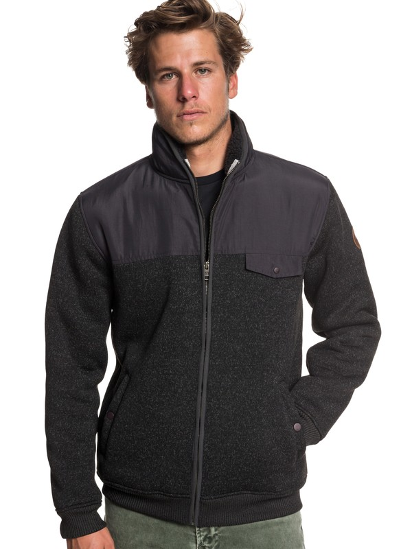 0 Keller Mix Zip-Up Fleece Black EQYFT03838 Quiksilver
