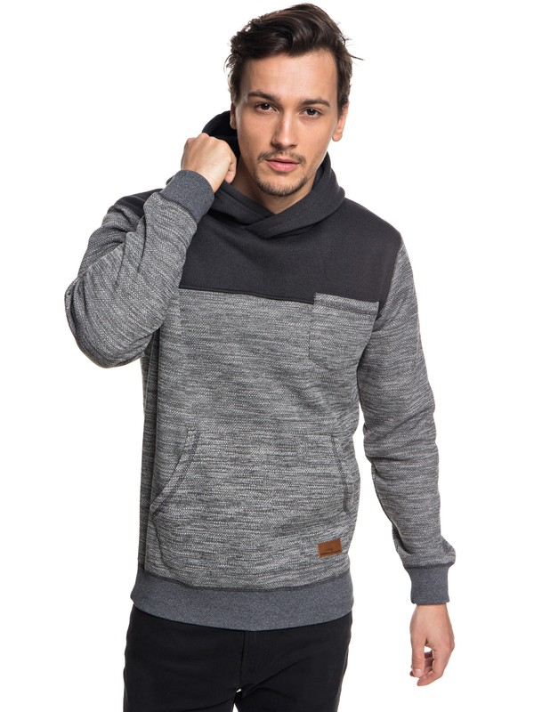 0 Keller Block Hooded Fleece  EQYFT03840 Quiksilver