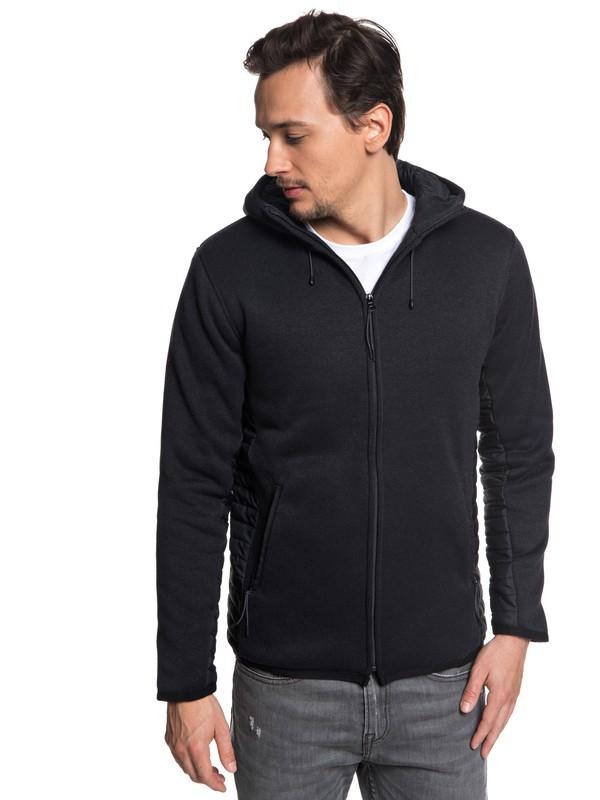 0 Keller Puff Zip Hooded Fleece Black EQYFT03841 Quiksilver