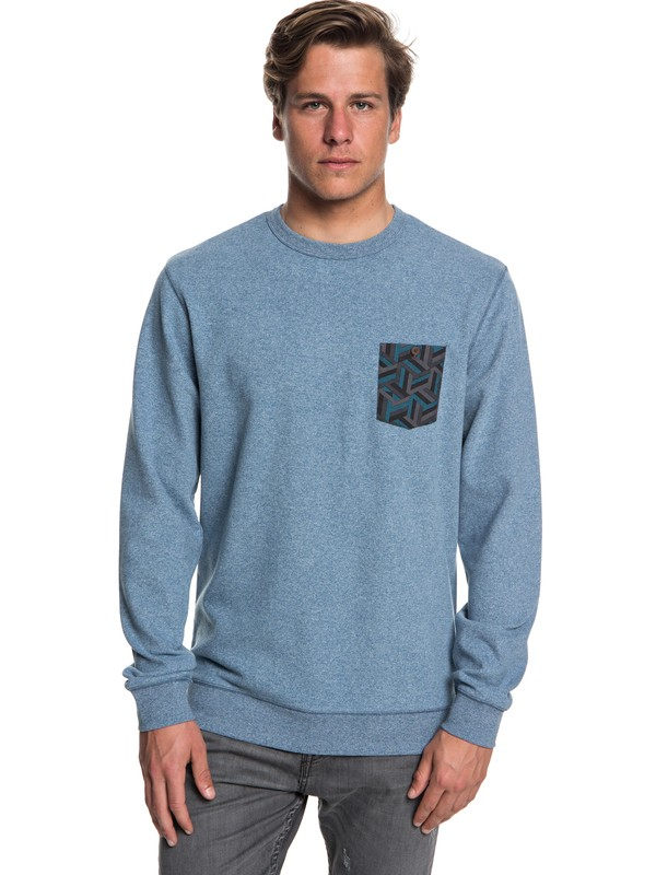 0 Takao Man - Sweatshirt for Men Blue EQYFT03843 Quiksilver