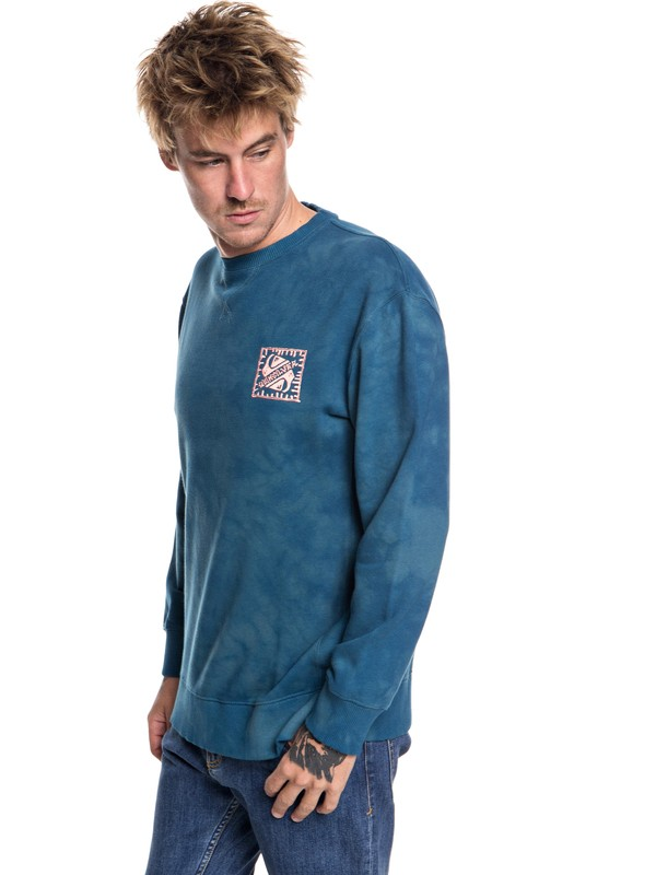 0 Volcanic Ocean - Sweatshirt for Men Blue EQYFT03845 Quiksilver