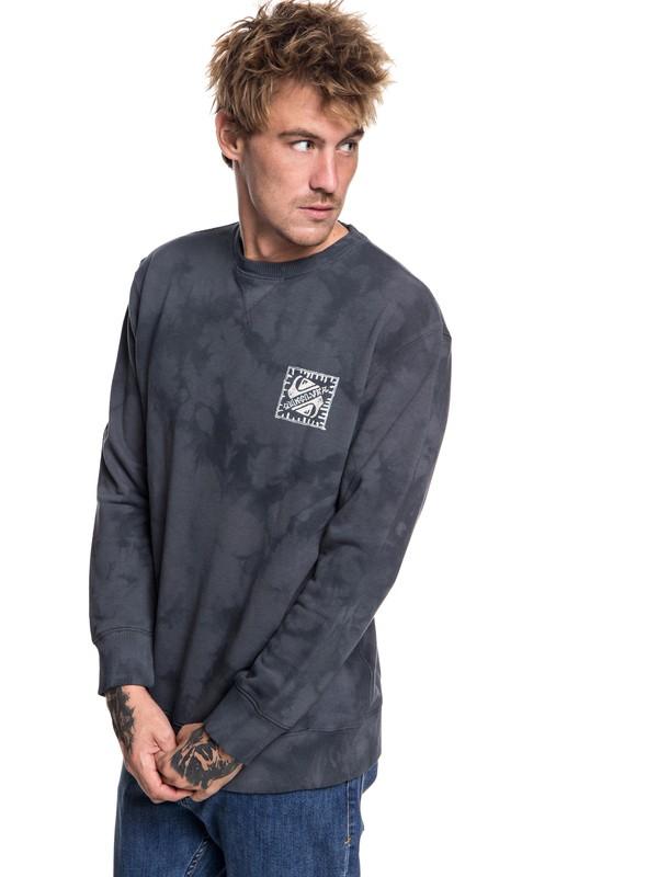 0 Volcanic Ocean - Sweatshirt for Men Black EQYFT03845 Quiksilver