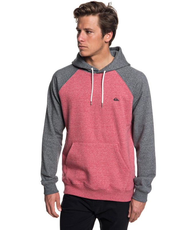 0 Everyday Hoodie Red EQYFT03846 Quiksilver