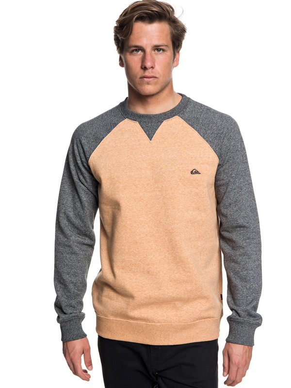 0 Everyday - Sweatshirt for Men Orange EQYFT03847 Quiksilver