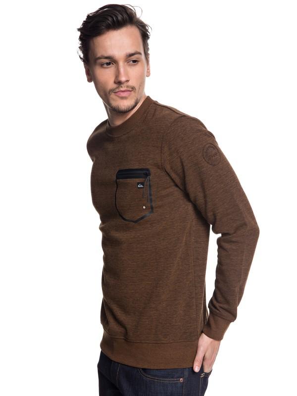 0 Yattemi - Technical Sweatshirt for Men Brown EQYFT03852 Quiksilver